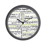 Bon appetit in other language Wall Clock