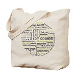 Bon appetit in other language Tote Bag