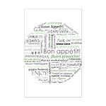 How to say Bon appetit - Gree Mini Poster Print