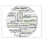 How to say Bon appetit - Gree Small Poster