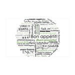 How to say Bon appetit - Gree 38.5 x 24.5 Wall Pee