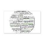 How to say Bon appetit - Gree 22x14 Wall Peel