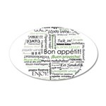 How to say Bon appetit - Gree 22x14 Oval Wall Peel