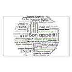 How to say Bon appetit - Gree Sticker (Rectangle 1
