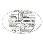 How to say Bon appetit - Gree Sticker (Oval)