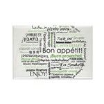 How to say Bon appetit - Gree Rectangle Magnet (10