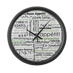 How to say Bon appetit - Gree Large Wall Clock