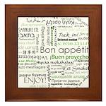 How to say Bon appetit - Gree Framed Tile