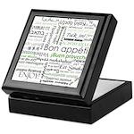 How to say Bon appetit - Gree Keepsake Box