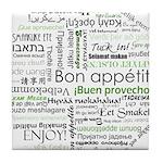 How to say Bon appetit - Gree Tile Coaster