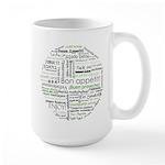 How to say Bon appetit - Gree Large Mug