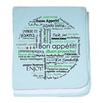 How to say Bon appetit - Gree baby blanket