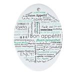 Bon appetit around the world Ornament (Oval)