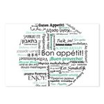 Bon appetit around the world Postcards (Package of