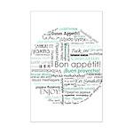Bon appetit around the world Mini Poster Print