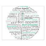 Bon appetit around the world Small Poster