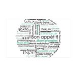 Bon appetit around the world 38.5 x 24.5 Wall Peel
