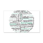 Bon appetit around the world 22x14 Wall Peel