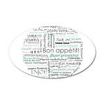 Bon appetit around the world 38.5 x 24.5 Oval Wall