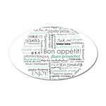 Bon appetit around the world 22x14 Oval Wall Peel