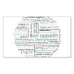 Bon appetit around the world Sticker (Rectangle 50