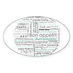 Bon appetit around the world Sticker (Oval 10 pk)