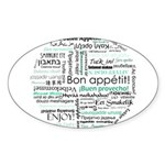Bon appetit around the world Sticker (Oval)