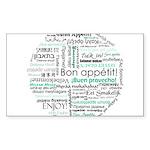 Bon appetit around the world Sticker (Rectangle)