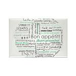 Bon appetit around the world Rectangle Magnet (100