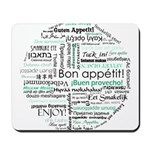 Bon appetit around the world Mousepad
