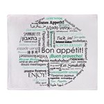 Bon appetit around the world Throw Blanket