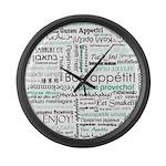 Bon appetit around the world Large Wall Clock