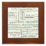 Bon appetit around the world Framed Tile