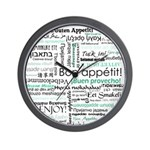 Bon appetit around the world Wall Clock