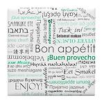 Bon appetit around the world Tile Coaster