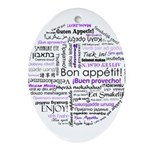 World Foods Dining Etiquette Ornament (Oval)