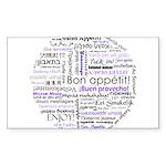 World Foods Dining Etiquette Sticker (Rectangle 50