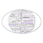 World Foods Dining Etiquette Sticker (Oval)
