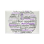 World Foods Dining Etiquette Rectangle Magnet (100