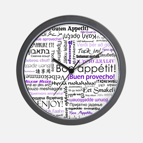 World Foods Dining Etiquette Wall Clock