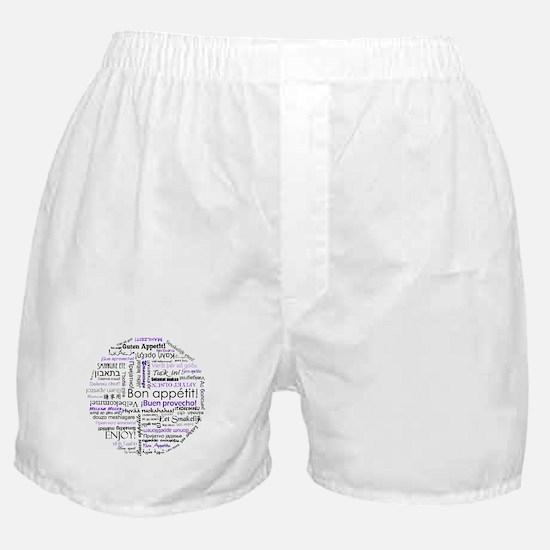 World Foods Dining Etiquette Boxer Shorts