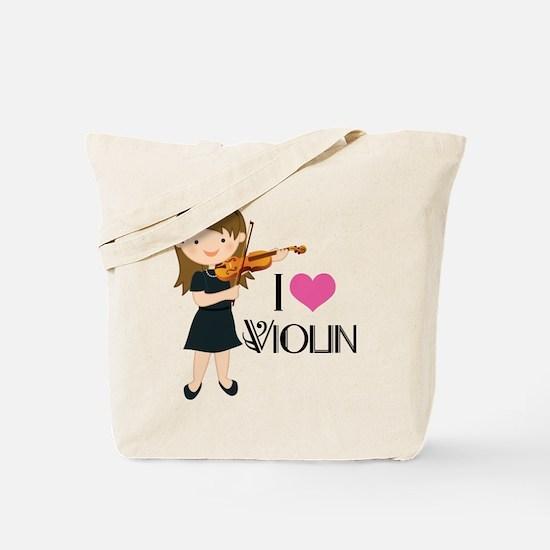 I Heart Violin Girls Tote Bag
