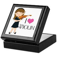 I Heart Violin Girls Keepsake Box