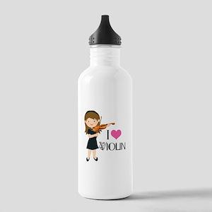 I Heart Violin Girls Stainless Water Bottle 1.0L