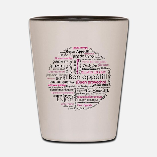 Bon appetit typography - Pink Shot Glass