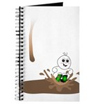 Cute Drip Guy Splashing in Pu Journal