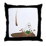 Cute Drip Guy Splashing in Pu Throw Pillow