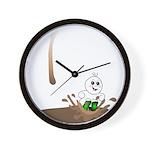 Cute Drip Guy Splashing in Pu Wall Clock
