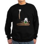 Cute Drip Guy Splashing in Pu Sweatshirt (dark)