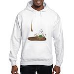 Cute Drip Guy Splashing in Pu Hooded Sweatshirt